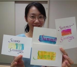 冨樫富美恵 stg-ft-cc.wpcloud.net サマーカード作成1dayレッスン 作品