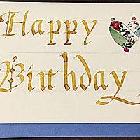 冨樫富美恵のカリグラフィー教室 Fumie.Togashi Calligraphy Class お誕生日カード作成1dayレッスン